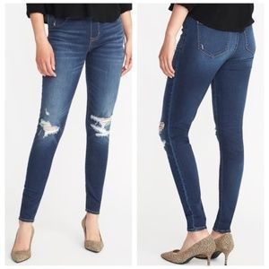 NWT Old Navy pull on med wash rockstar jeggings